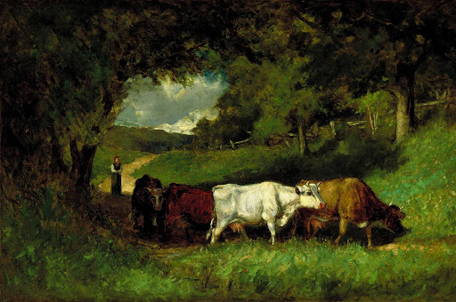 Bannister - Driving Home the Cows (1881) Smithsonian