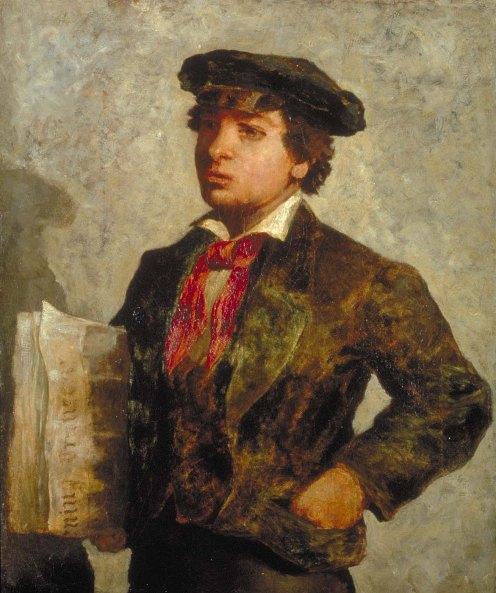 Bannister - Newspaper Boy (1869) Smithsonian