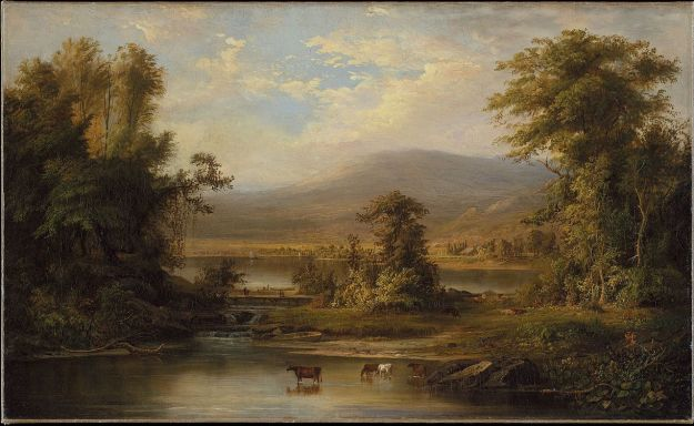 Duncanson - Landscape with Cows Watering in a Stream (1871) Met