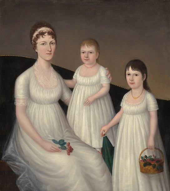 Joshua Johnson - Grace Allison McCurdy and Her Daughters (1806) NGA