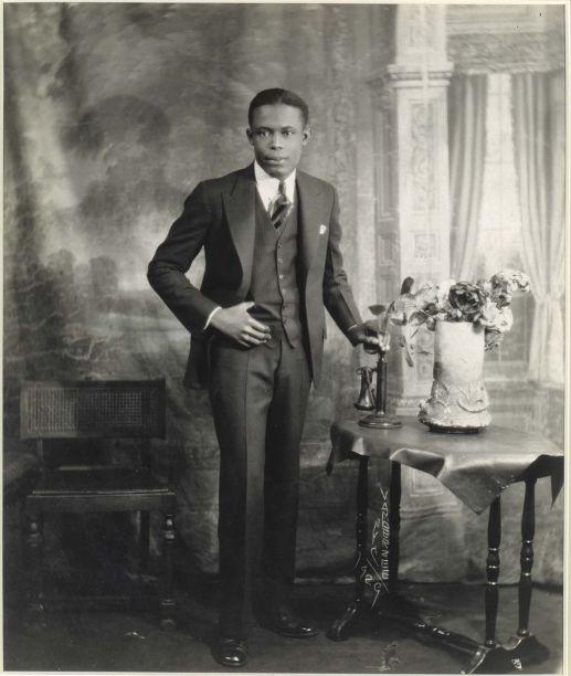 Van Der Zee - Studio Portrait of Young Man with Telephone (1929)