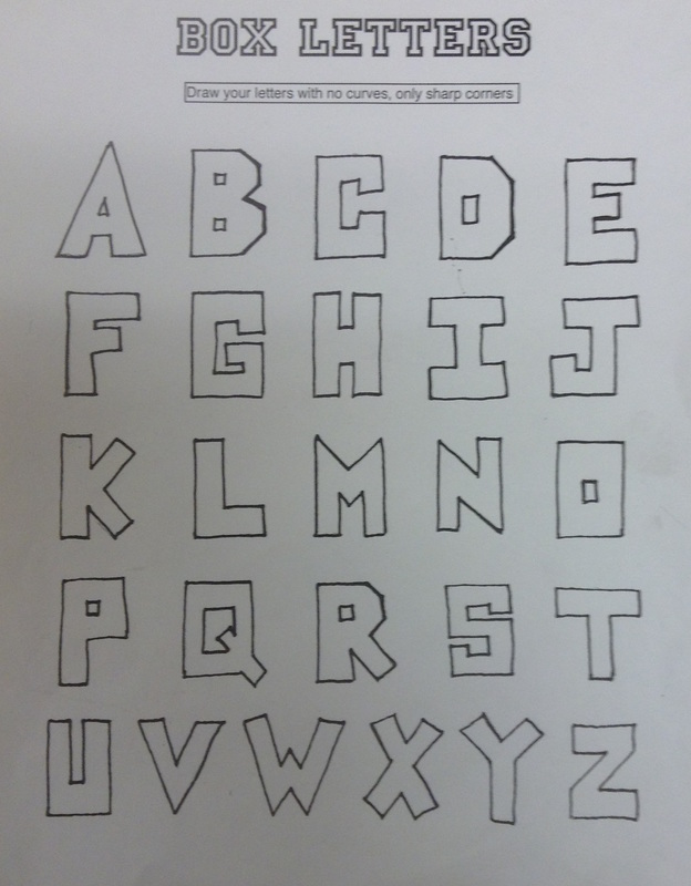 How To Draw Box Letters : letters, Point, Perspective, Peroddy