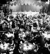 The Khorassan Room at the Chase-Park Plaza Hotel decorated for the 1982 Clover Ball