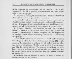 1920 Washington University School of Medicine bulletin, part 2