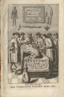 Fig. 7. Added engraved title page from Thomas Willis' Cerebri anatome, 1666. (BBML)