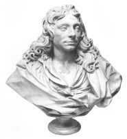 Fig. 2: Christopher Wren sculpture by Edward Pierce, 1773, Willis & Feindel, 1965 plate 7