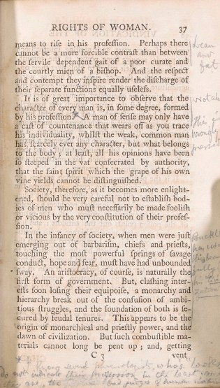 A previous owner of our copy was deeply engaged with the text and made frequent annotations in the margins
