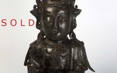 Chinese Ming Dynasty Bronze Seating Bodhisattva