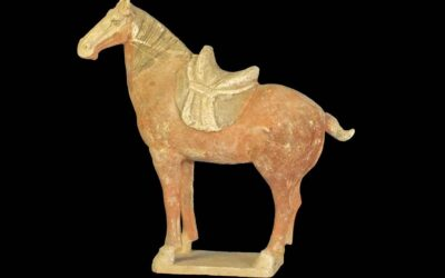 Tang Dynasty Pottery Horse with Saddle