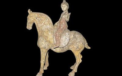 Tang Horse & Detachable Equestrian Figure