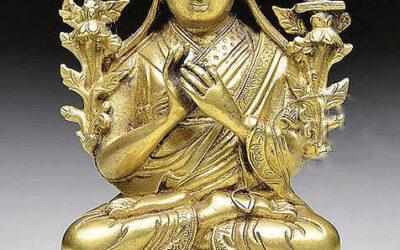 Gilt Bronze Figure Tsong Kha Pa