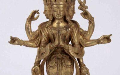 Gild Bronze Figure Avalokitesvara