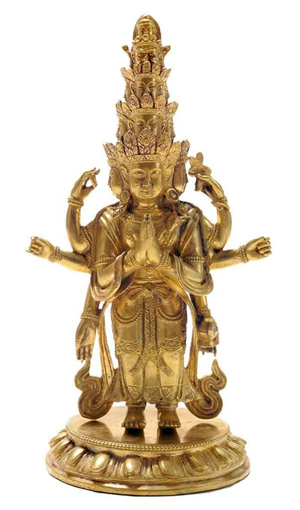 Rare-Gild-Bronze-Figure-Avalokitesvara