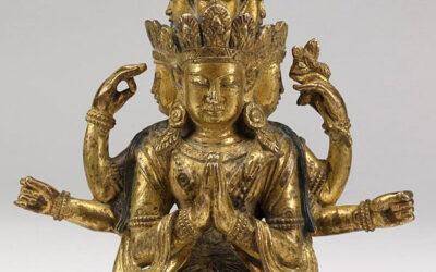 Exceptional Gild Bronze Figure Avalokitesvara