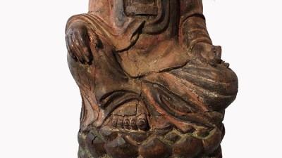 Lovely Large Wood Guanyin (4)