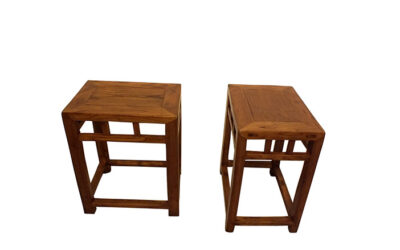 PAIR CHANGFANGDENG STOOLS