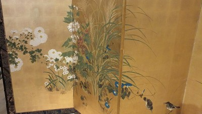 FINE JAPANESE FOLDING SCREEN (4)
