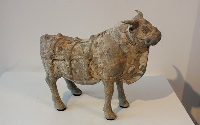 Most Rare Painted Gray Pottery Ox (3)