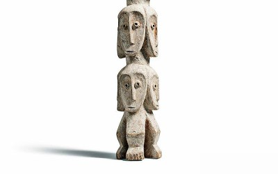 Rare Lega Several Heads Figure (1)