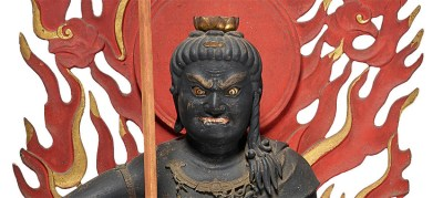 Highly Important Wood Sculpture Fudo Myo-o (Acala) (3)