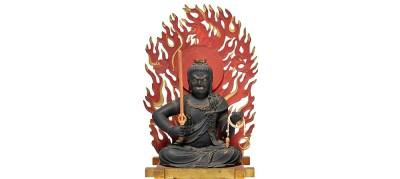 Highly Important Wood Sculpture Fudo Myo-o (Acala) (7)