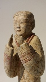 Extremely Rare Pottery Kneeling Entertainer (1)