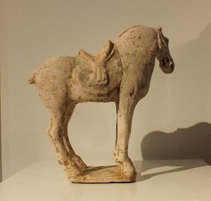 Painted Red Pottery Saddled Horse (6)
