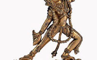 Sino Tibetan Gilt Bronze Dakini