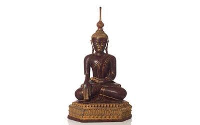 Large Burmese Gilt Lacquered Buddha
