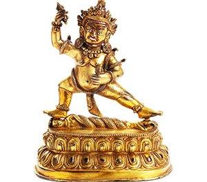Tibeto Chinese Gilt Bronze Vajraoani