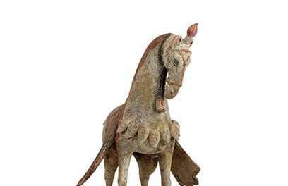 Magnificent Pottery Caparisoned Horse