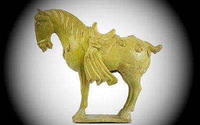 Straw-Yellow Glazed Horse