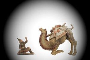 Tang Dynasty Crouching Bactrian Camel