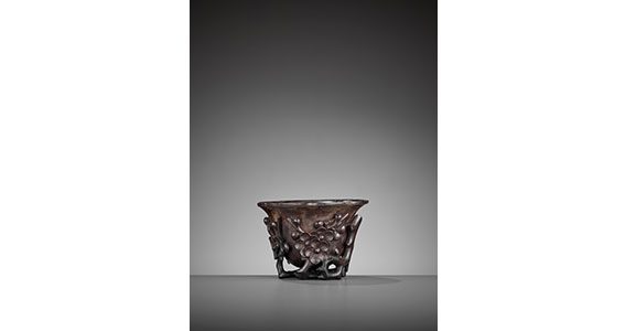 Zitan Floral Libation Cup