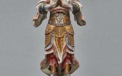 Magnificent Painted Figure of Idaten