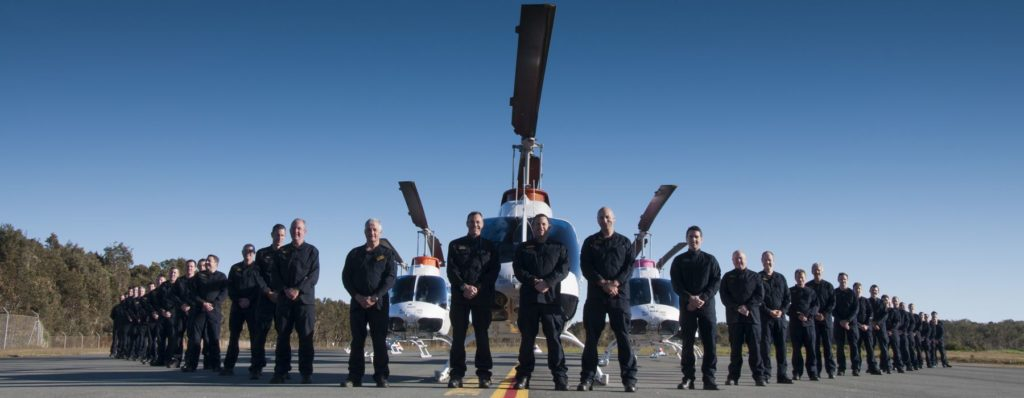 Becker Helicopters Flight Instructors with the Fleet