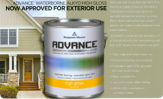 Beckerle Lumber BENJAMIN MOORE ADVANCE Paint  ROCKLAND