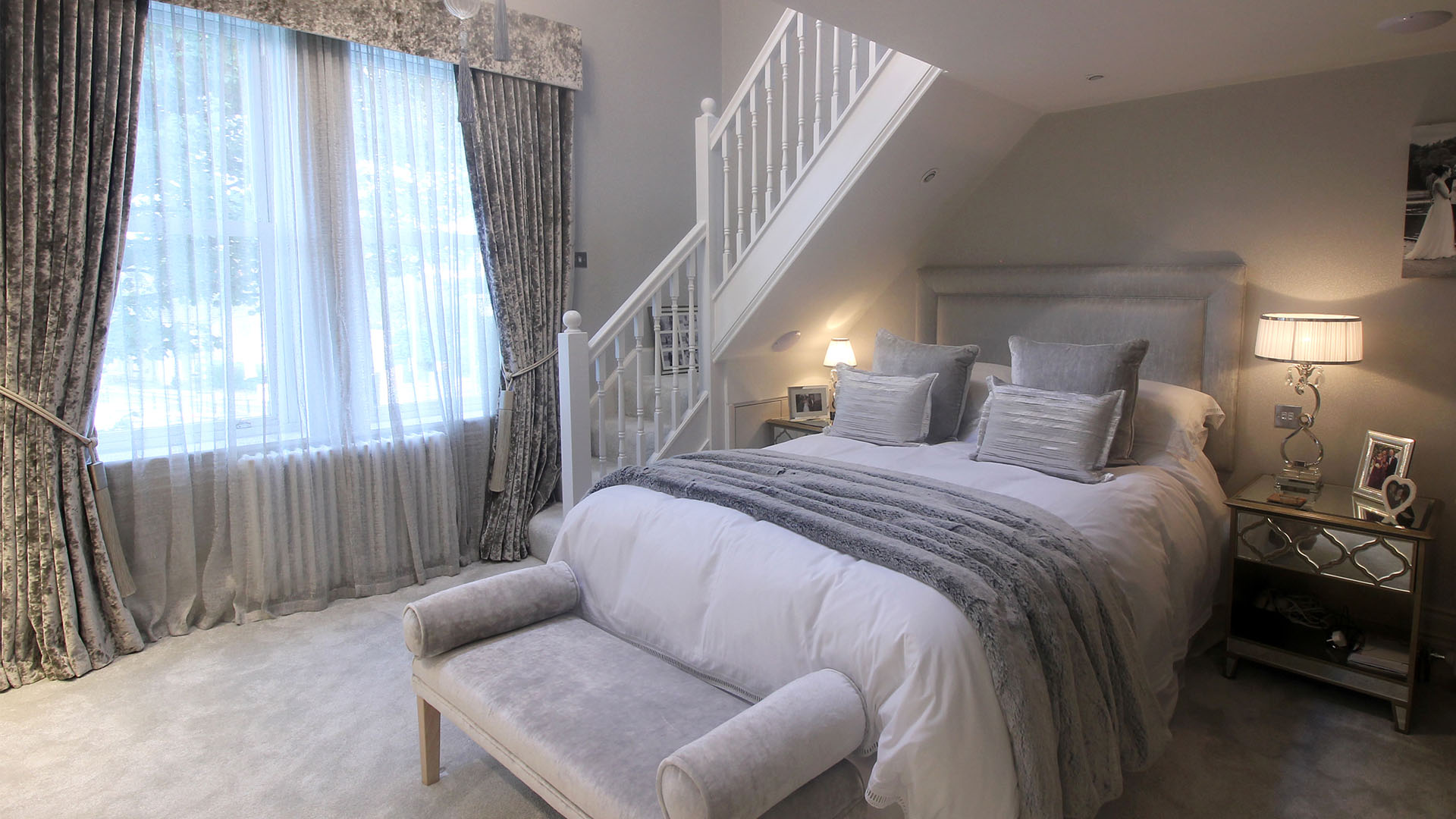 Master bedroom Interior Design by Beckett & Beckett Interiors Leeds