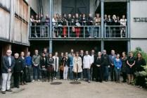 Staff and students of the 2014 Samuel Beckett Summer School, outside the Samuel Beckett Theatre