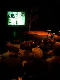 John Minihan's public event at the Beckett Theatre