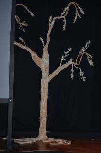 Tree on the Beckett Theatre stage