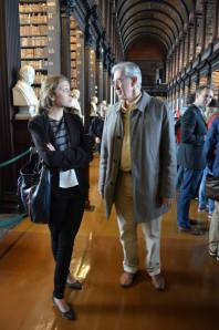 Amanda Dennis and Barry McGovern at the Launch ceremony, the Long Room, TCD