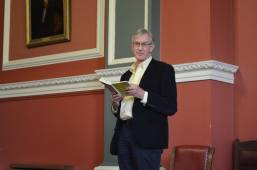 Barry McGovern gives a reading during Eoin O'Brien & Gerald Dawe's public event.