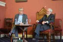 Eoin O'Brien and Gerald Dawe during their public event.