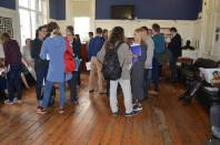 The crowd assembles at the opening reception