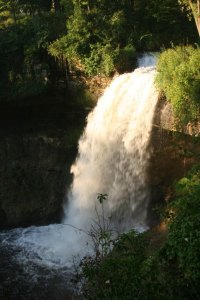 A gorgeous shot of the falls in full swing at Minnehaha Park.
