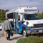 Becketwood Members use the private bus for weekly outings.