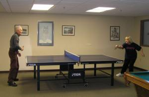 Ping pong at Becketwood Cooperative