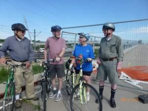 Becketwood biking group on a bike ride