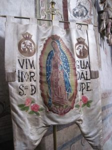 Our Lady of Guadalupe processional banner